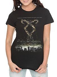 The Mortal Instruments: City Of Bones Rune Poster Girls T-Shirt
