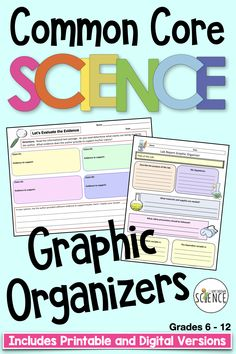 Use this set of 23 printable or digital graphic organizers with any type of science informational text. By first reading the questions on the document, the student is provided with a guide or map as they read the informational text passage. These graphic organizers help the student to know what to look for as they are reading. These reading guides provide a fantastic way to reinforce lessons, review difficult concepts, or provide extra practice for the struggling student. Types Of Science, Common Core Science, Reading Goals, Next Generation Science Standards, Science Student, Graphic Organizers, Biology, Chemistry, Physics