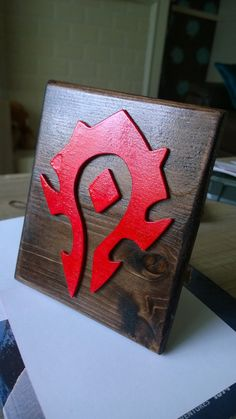 World of Warcraft Faction Plaques by ScrollsawHaven on Etsy