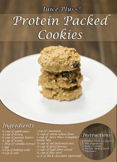 Protein Packed Cookies with Juice Plus Complete. #juicepluscomplete #sunstoneholistic