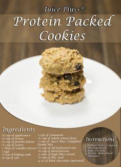 Protein Packed Cookies with Juice Plus Complete. #juicepluscomplete #sunstoneholistic