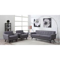 TOV Furniture James Grey Linen Sofa TOV-S20S-G