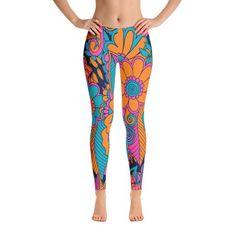 African Leggings, Floral Leggings, Abstract Leggings, Women Leggings, Yoga Leggings, Yoga Pants, Clothing, Pants