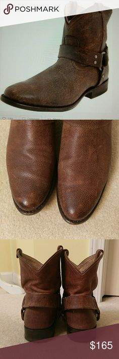 Frye Wyatt short boots In excellent condition, destressed leather. Worn s handful of times. True to size. Sorry no trades. Frye Shoes Ankle Boots & Booties