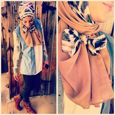 I must learn how to do this bowtie hijab.