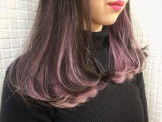 Hair Color Streaks, Hair Dye Colors, Ombre Hair Color, Hair Highlights, Dip Dye Hair, Dye My Hair, Under Hair Dye, Purple Brown Hair, Hidden Hair Color