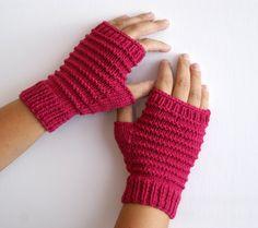 Honeysukle fingerless gloves by knittingcate on Etsy, $30.00
