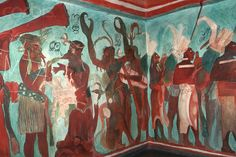 Fresco Paintings Decorate a Mayan Tomb
