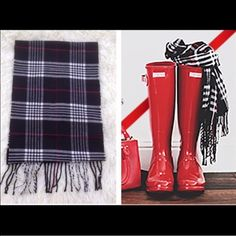 Black & Red Cozy Scarf New without tags, never worn! Super soft & cozy price firm unless bundled. 10% off 2+ items in my closet❤️ Accessories Scarves & Wraps