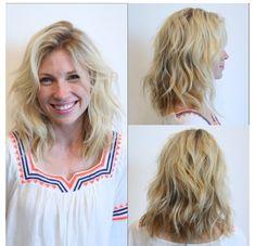 Perfect wavy Hair cut