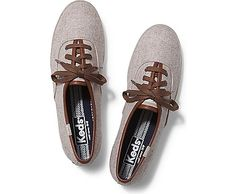 We put a warm-and-toasty twist on our favorite champions. Heathered wool upper Lace up sneaker Breathable shirting stripe linin Keds Champion, Keds Shoes, Fall Shoes, Fall Collections, Shoe Shop, Cool Outfits, Footwear, Lace Up, Slip On