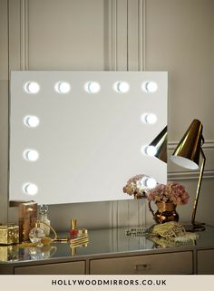 Hollywood Mirror Wall Mounted Landscape | Makeup Mirror with Lights | Dressing Table Mirror with Lights | Vanity Mirror with Lights | Illuminated Makeup Mirror | Holllywood Mirror UK | Light Up Makeup Mirror | Hollywood Mirrors | Mirror Size 60 X 80cm | https://www.hollywoodmirrors.co.uk/products/hollywood-mirror-with-light-bulbs-around-it As official suppliers to A - list celebrities our Hollywood mirror with lights around it creates the perfect environment to look your very best.