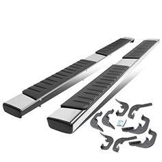 "Silverado / GMC Sierra 1500 2500HD 3500HD Crew Cab 6"" Aluminum OE Style Side Step Nerf Bar Running Board. For product info go to:  https://www.caraccessoriesonlinemarket.com/silverado-gmc-sierra-1500-2500hd-3500hd-crew-cab-6-aluminum-oe-style-side-step-nerf-bar-running-board/"