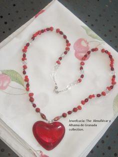 Almuñécar y Alhama de Granada Jewellery: Large Red Heart Necklace