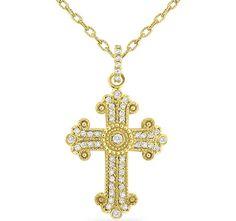 Antique gold and diamond cross