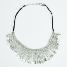 Dance the night away in this dazzling burst of white metal boho elegance!  This dramatic choker will instantly add up the style points to any outfit! $14