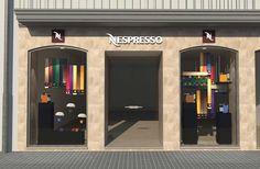 escaparate nespresso renders