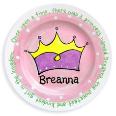 Princess Crown Hand-Painted Ceramic Plate | Jack and Jill Boutique
