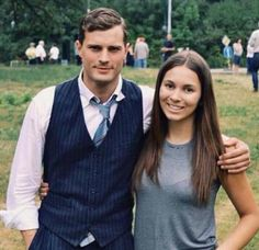 Jamie Dornan and a lucky fan between takes of movie Anthropoid in Prague.. http://everythingjamiedornan.com/gallery/thumbnails.php?album=67 https://www.facebook.com/everythingjamiedornan/?ref=aymt_homepage_panel