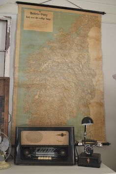 old map as decor
