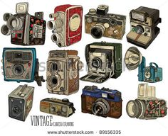 Vector Download » vintage camera set - » Free Vector Graphics free download and share your vector