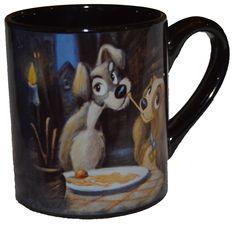 Official Licensed Disney Lady & The Tramp Ceramic Coffee Mug 14 Oz