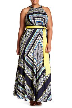 Halter Maxi Dress (Plus Size)