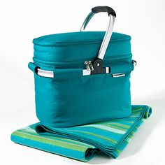 Insulated Picnic Tote with Blanket : can't wait to go on picnics with Mira.