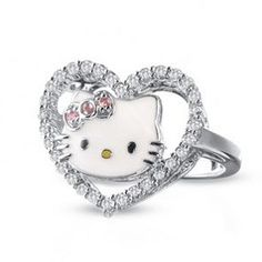 If You Are Looking For A Best Unique And Cute Hello Kitty Wedding Ring For  Your