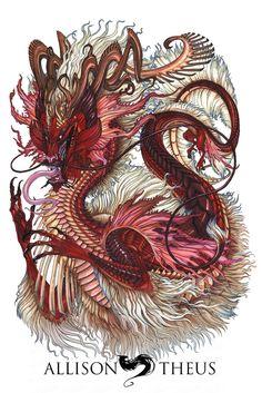 FU Dragon, Allison Theus on ArtStation at https://www.artstation.com/artwork/8vPYE