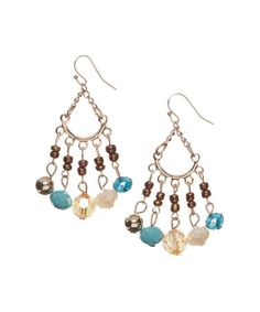 This Turquoise & Yellow Faceted Cascade Drop Earrings by Erica Lyons is perfect! #zulilyfinds  Another version of a very similar one, same colors, but slightly different, love all of them <3 :-)!