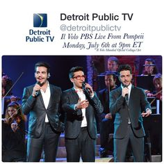 By @detroitpublictv: @ilvolomusic Live From Pompeii is coming to Detroit Public TV Monday, July 6th at 9pm ET! Who's excited?