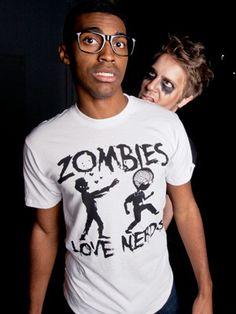 Zombies Love Nerds T-Shirt