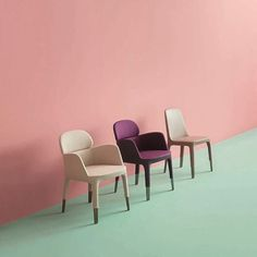 Italian furniture manufacturer Pedrali announced the addition of office chairs to its Ester seating range by French designer Patrick Jouin in Milan last month. Cool Furniture, Furniture Design, Pink Furniture, Living Colors, Room Of One's Own, Italian Furniture, Chair And Ottoman, Armchair, Furniture Manufacturers