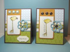 SU Animal Crackers Reach for the Stars swap card by kathleenh - Cards and Paper Crafts at Splitcoaststampers