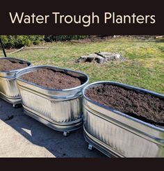 Want to make some cool galvanized trough planters? Step by step instructions, costs, and lessons learned in making galvanized trough planters. Garden Troughs, Trough Planters, Metal Planters, Indoor Planters, Garden Planters, Vegetable Planters, Concrete Planters, Flower Planters, Metal Garden Beds