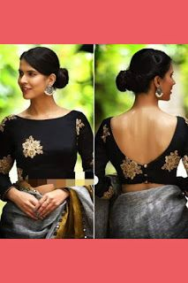 11 Trending Blouse Designs In 2019 That Will Impress You Source by bckfranzis Our Reader Score[Total: 0 Average: Related Latest Trending Silk Saree Blouse Designs - candlesNew Look Indian Blouse Designs, Saree Jacket Designs, Saree Blouse Neck Designs, Latest Blouse Designs, Boat Neck Saree Blouse, Black Blouse Designs, Saree Blouse Patterns, Saree Blouse Long Sleeve, Sleeveless Saree Blouse