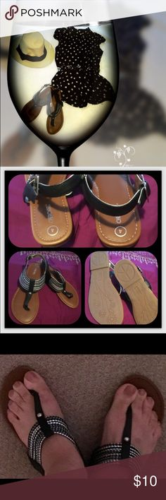 dba8c8e0706e Sandals! Very cute new pair of girls sandals! Cherokee🛍 Black with Silver  details