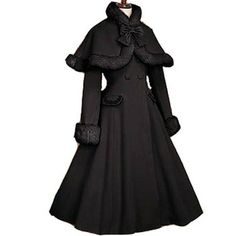 Gothic Lolita Coat adult princess belle costume medieval lolita dress Long Sleeve with cape party halloween for  women custom