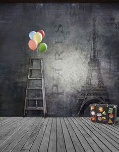 Pairs Balloon Suitcase Ladder Background For Photo Studio Muslin Digital Cloth Photography Backdrops is part of Clothes Photography Studio - Package Yes Model Number Style France Romantic Type Computer Printed Material Vinyl Size Material Vinyl Photography Studio Background, Studio Background Images, Background Images For Editing, Black Background Images, Background Images Wallpapers, Photography Backdrops, Photo Backgrounds, Photography Backgrounds, Hd Wallpaper