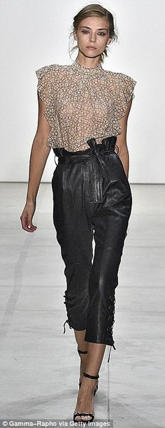 Paperbag pants may not sound appealing but the silhouette looks oh- so-good at Marissa Web...