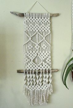 Macrame Wall Hanging on Driftwood by ViolaMaye on Etsy