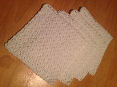 Crochet Dish/Wash Cloth Set of 4. Handmade by MaryDSerenityDesigns