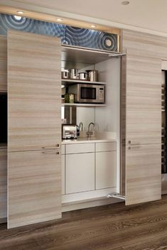 Small Kitchenette With Beautiful Doors In 2019 Small