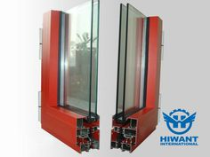 Top-grade aluminium profile for the frame of heat-insulated vacuum double-glazed windows and doors.