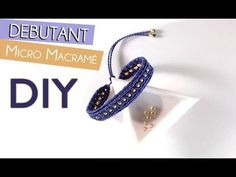 How to Make a Zig Zag and Bead Macrame Bracelet Tutorial - YouTube