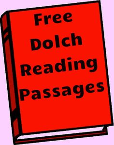 Free Dolch Reading Passages | Dolch Reading Phrases | Readyteacher.com
