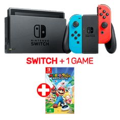 Nintendo Switch Neon Console + 1 Game $489