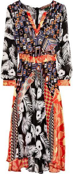 Duro Olowu Multicolor Printed Silkblend Georgette Dress