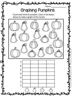 FREEBIE - All About Pumpkins Print Go Sample Pack - rhyming words, graphing, color by number, emergent reader.